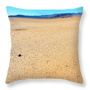 Dry Soil In Death Valley - Color Throw Pillow