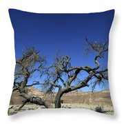 Dry Solitary Tree  Throw Pillow