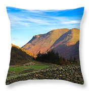 Dry Stone Walls In Patterdale In The Lake District Throw Pillow