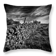 Dry Stone Walls Throw Pillow
