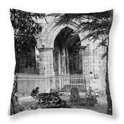 Dryburgh Abbey, 1866 Throw Pillow