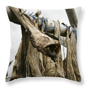 Drying Monkfish On A Stack Throw Pillow