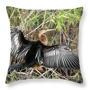 Drying Wings Throw Pillow