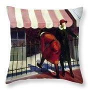 Du Bois Shops, 1922 Throw Pillow