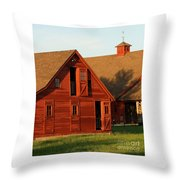 Dual Barns-3811 Throw Pillow