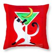 Moon Martini Throw Pillow
