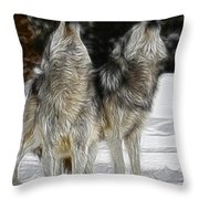 Dual Howl Throw Pillow