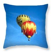 Dualing Ballons Throw Pillow
