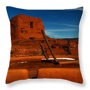 Dualing Faiths Throw Pillow