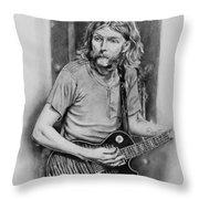 Duane Allman Throw Pillow