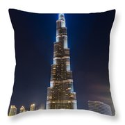 Dubai - Burj Khalifa Throw Pillow