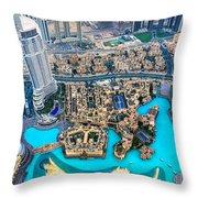 Dubai Downtown - Uae Throw Pillow