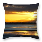 Dublin Bay Sunset Throw Pillow