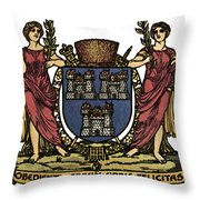 Dublin Coat Of Arms Throw Pillow