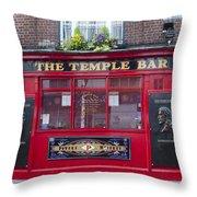 Dublin Ireland - The Temple Bar Throw Pillow
