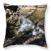 Dublin Ohio Waterfall In Spring 1 Throw Pillow