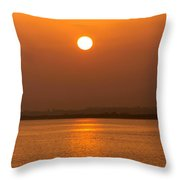 Fine Line Between Night And Day Throw Pillow
