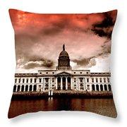 Dublin - The Custom House Throw Pillow