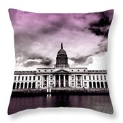 Dublin - The Custom House - Lilac Throw Pillow