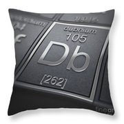 Dubnium Chemical Element Throw Pillow