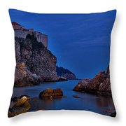 Dubrovnik Bay Throw Pillow