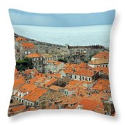 Dubrovnik Rooftops And Walls Throw Pillow