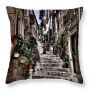 Dubrovnik Streets 6 Throw Pillow
