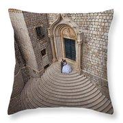 Dubrovnik Wedding Portrait Throw Pillow
