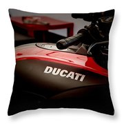 Ducati-unplugged V8 Throw Pillow