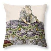 Duchess Evening Gown, Engraved Throw Pillow