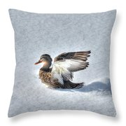 Duck Angel Throw Pillow