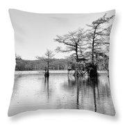 Duck Blind On Caddo Lake Throw Pillow