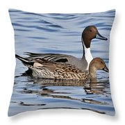 Duck Duo Throw Pillow