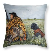 Duck Hunters Throw Pillow