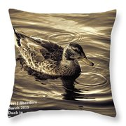 Duck In Grey Shades V A Throw Pillow