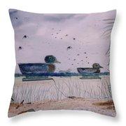 Just Ducks Throw Pillow