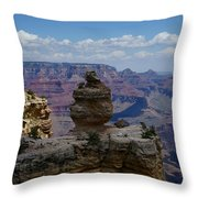Duck On A Rock Grand Canyon Throw Pillow