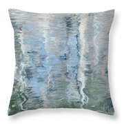 Duck On Pond, Abstract Throw Pillow
