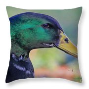 Duck Personality Throw Pillow
