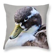 Duck Portrait Throw Pillow