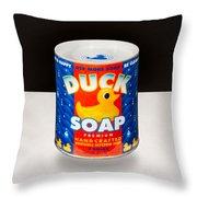 Duck Soap Throw Pillow