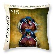 Duck Stamp Art Throw Pillow