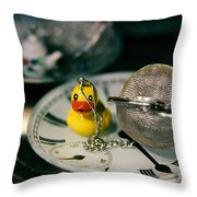 Duck The Hour Throw Pillow