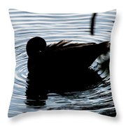 Duck Waves Throw Pillow