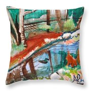 Duckpond Throw Pillow
