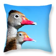 Ducks At Attention Throw Pillow