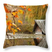 Duck's House Throw Pillow by Evgeni Dinev