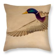 Ducks In Flight Throw Pillow