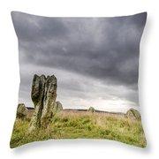 Duddo Prehistoric Stone Cicle Throw Pillow