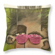 Dude With Pink Sunglasses Throw Pillow